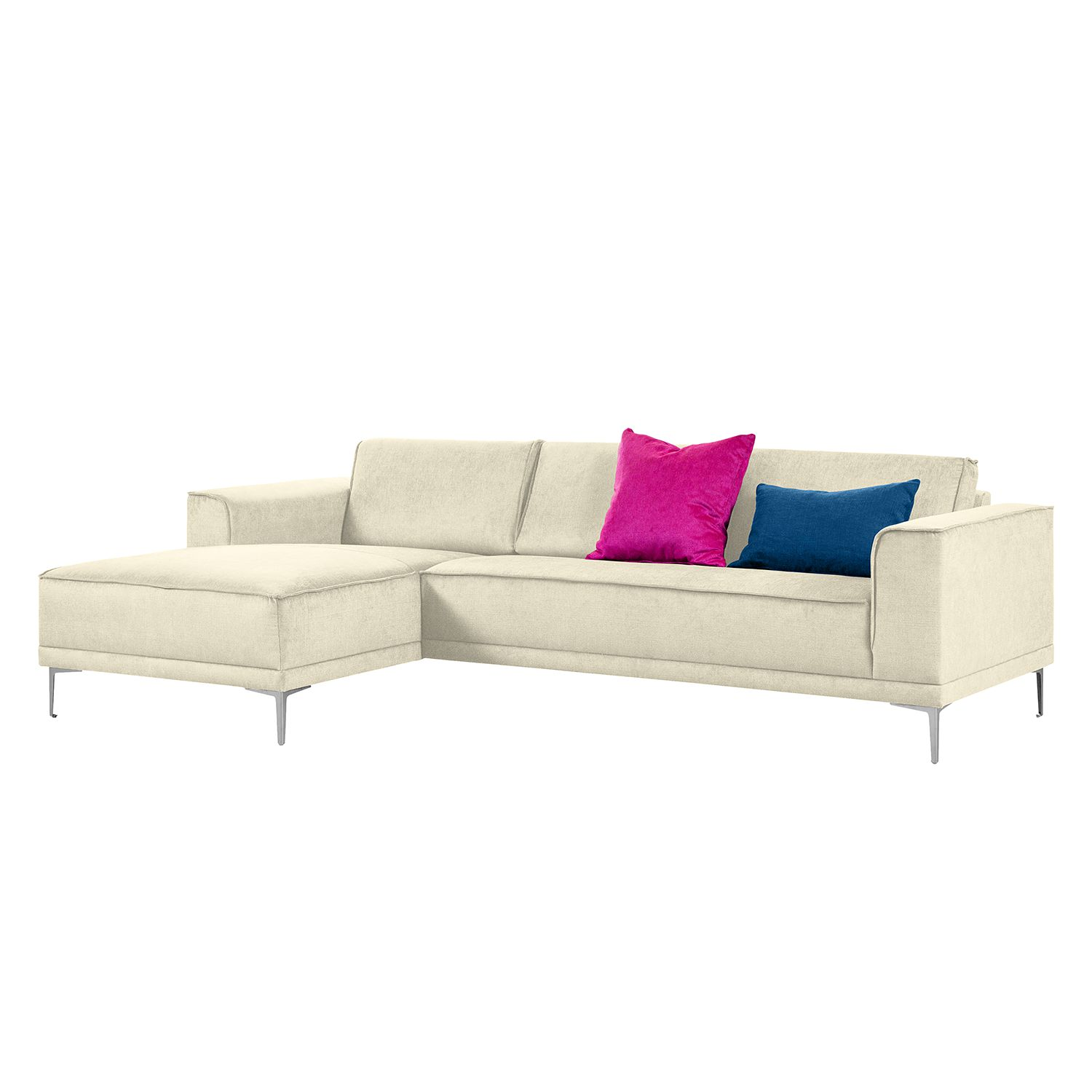 Ecksofa Grapefield - Webstoff - Longchair/Ottomane davorstehend links - Beige, Says Who image 1