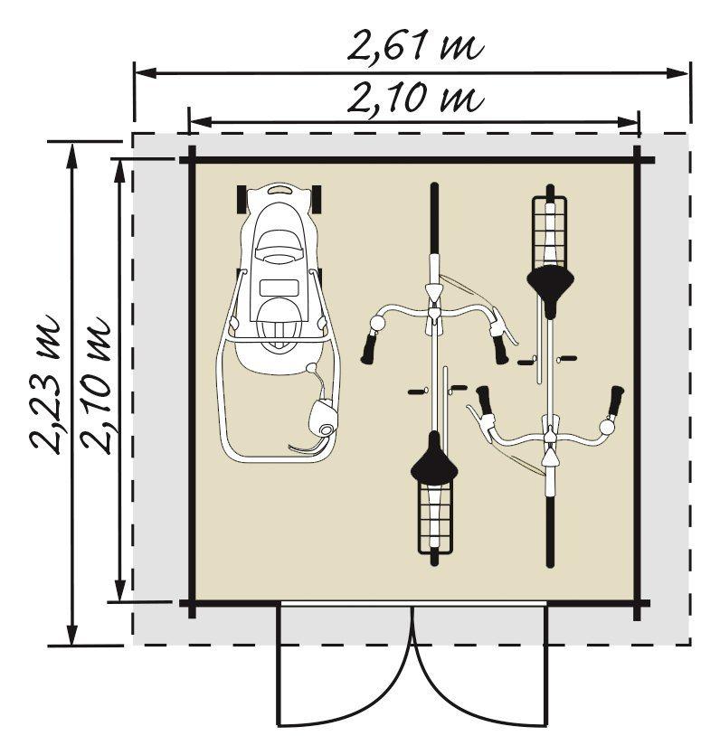 Luoman LUOMAN Gartenhaus »Lillevilla 273«, BxT: 261x238 cm ...