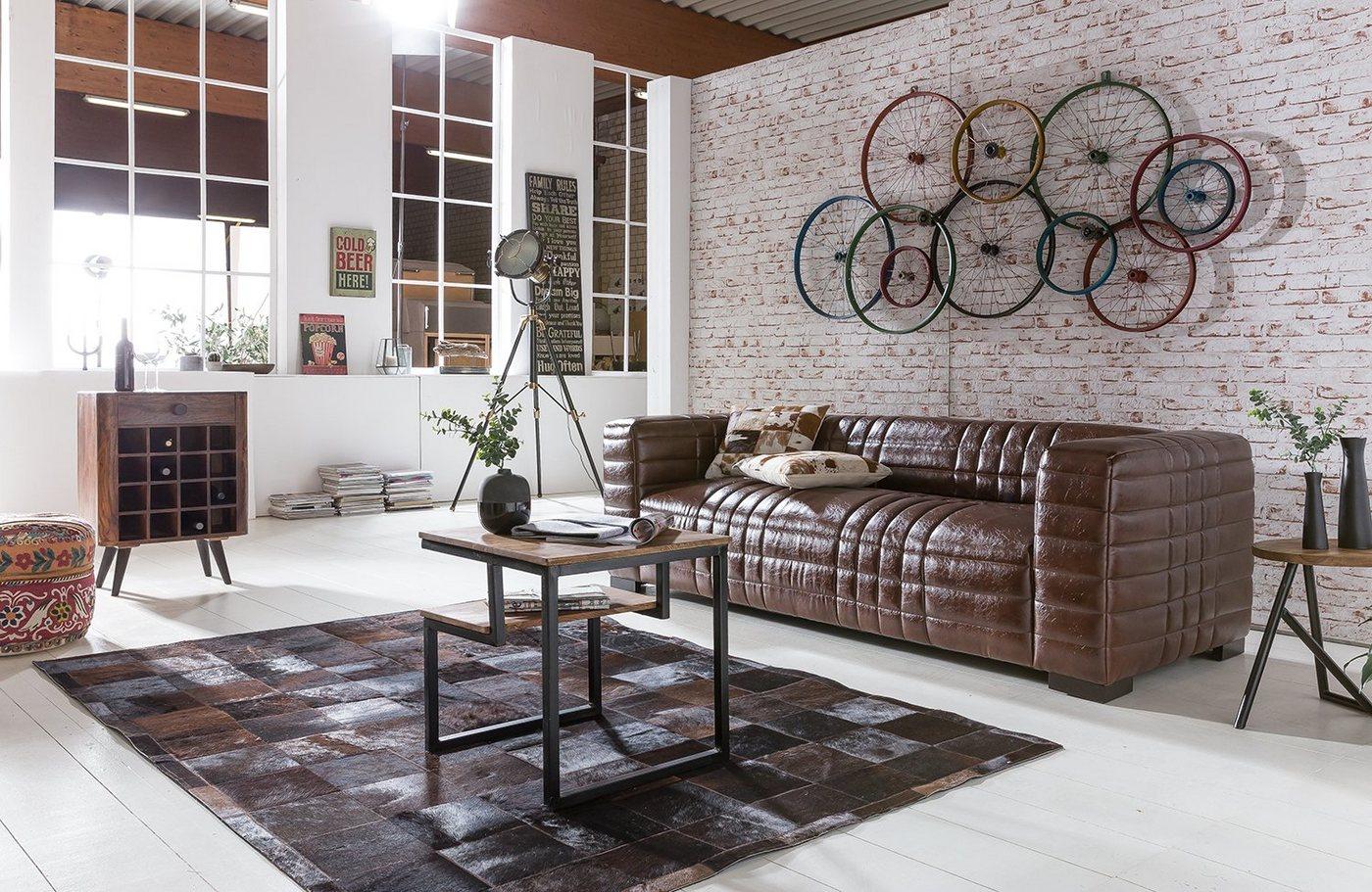 Kasper Wohndesign Sofa Kunstleder Braun 3 Sitzer Step Moebel Net