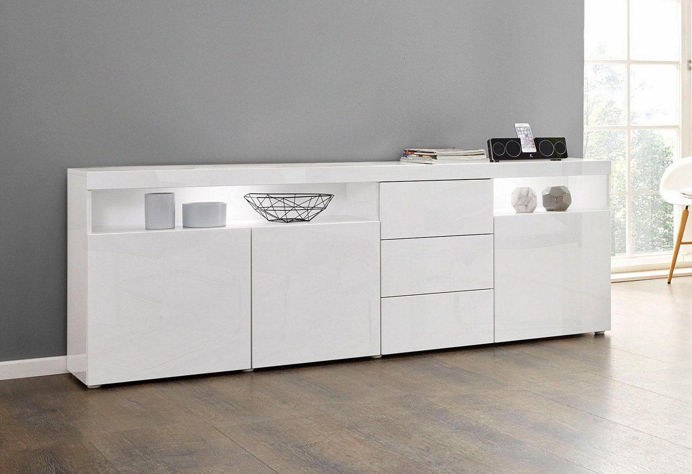 Beeindruckend Sideboard Weiß Hochglanz 200 Cm Referenz Von Borchardt Möbel Borchardt Möbel »kapstadtÂ«, Breite Mit