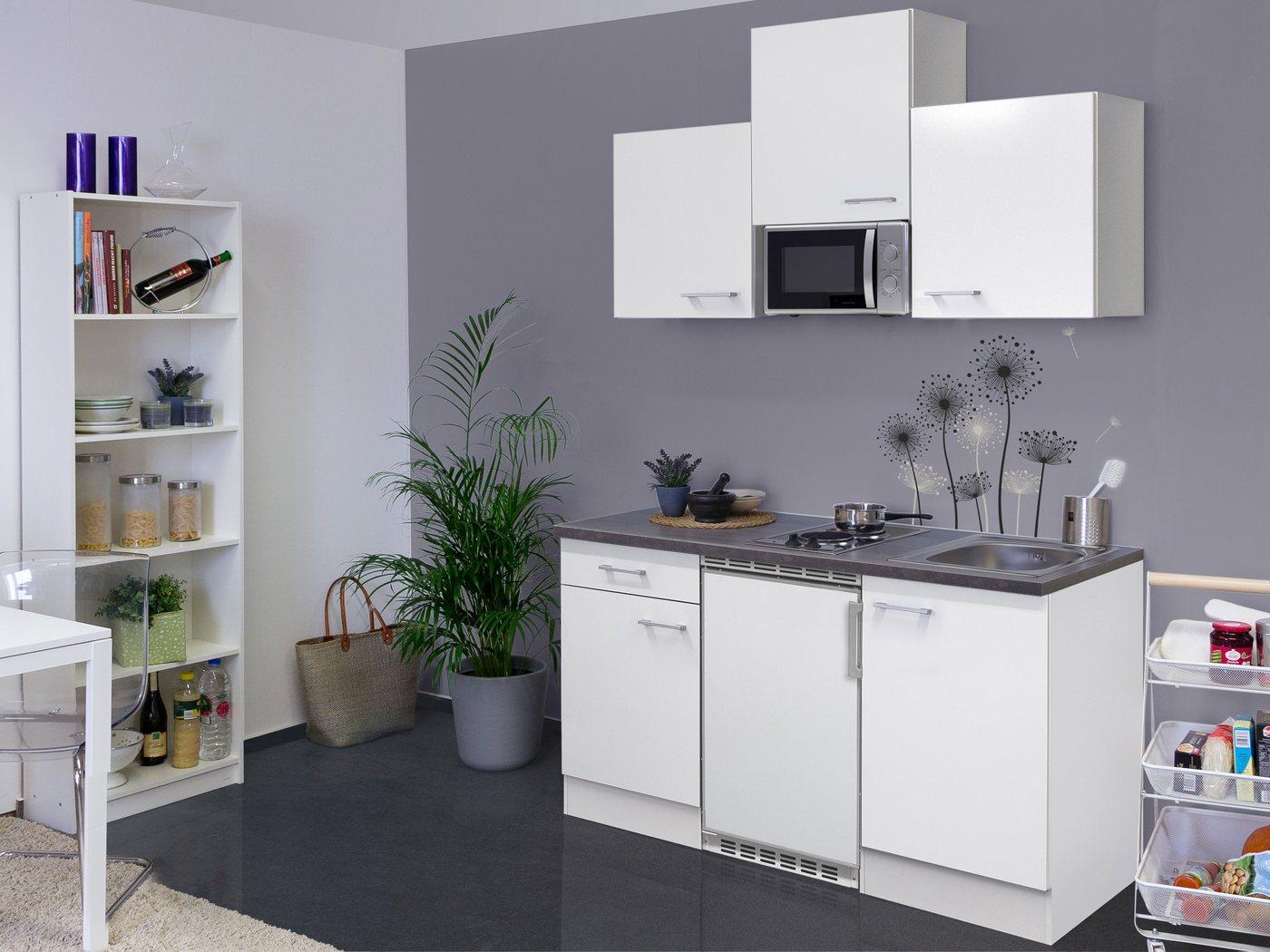 flex well k chenzeile mit e ger ten lucca gesamtbreite 150 cm wei nicht im lieferumfang. Black Bedroom Furniture Sets. Home Design Ideas