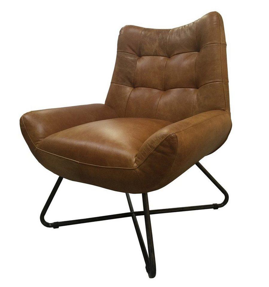 Kasper Wohndesign: Kasper-Wohndesign Sessel Leder Verschiedene Farben »Snooze
