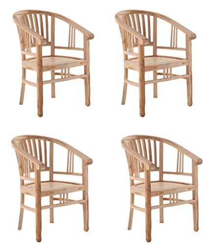 SAM® 4er Spar-Set Teak-Holz Gartensessel, Gartenstuhl, Sesselstuhl ...