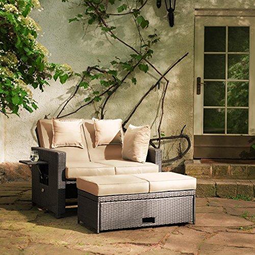 Blumfeldt Komfortzone Gartensofa Gartenliege Rattan Sofa