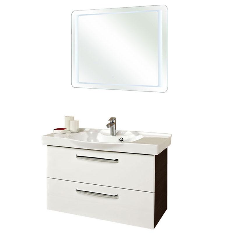 pelipal trentino badm bel set 92 cm spiegel inkl umlaufender led beleuchtung keramikwaschtisch. Black Bedroom Furniture Sets. Home Design Ideas