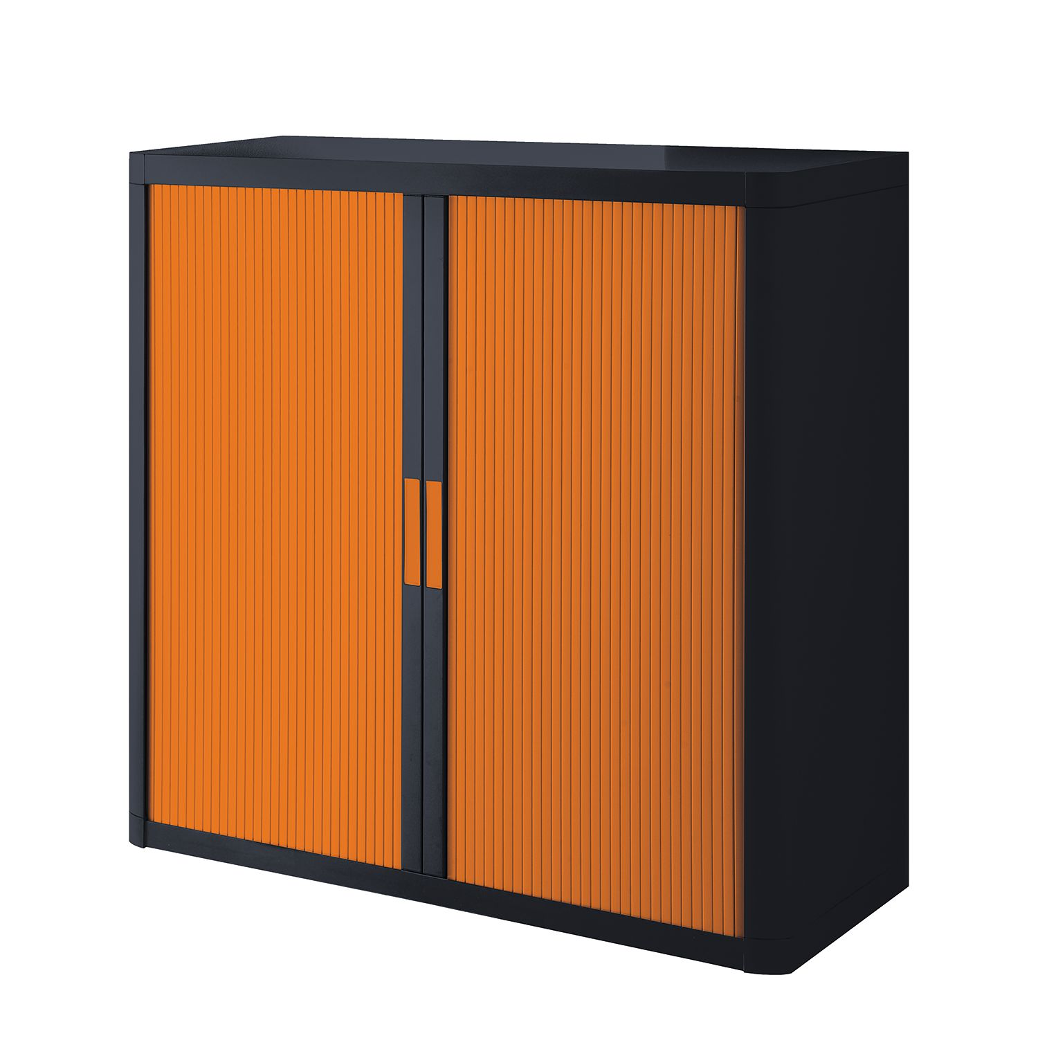 Aktenschrank easyOffice - Schwarz / Orange - 104 cm, easy Office und Paperflow
