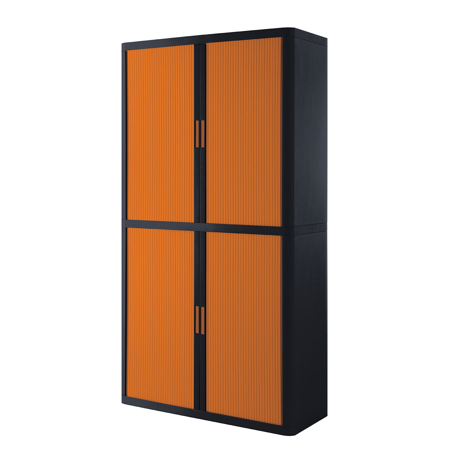 Aktenschrank easyOffice - Schwarz / Orange - 204 cm, easy Office und Paperflow