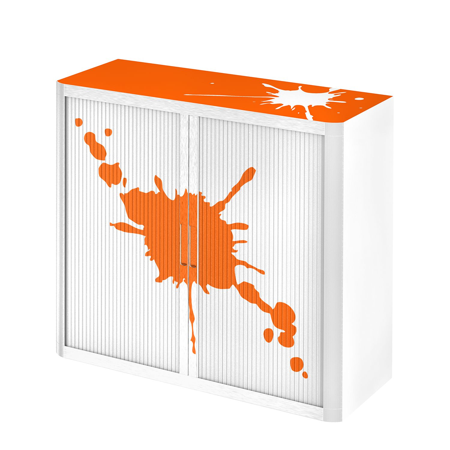 Aktenschrank easyOffice Stickers II - Orange - 104 cm, easy Office und Paperflow