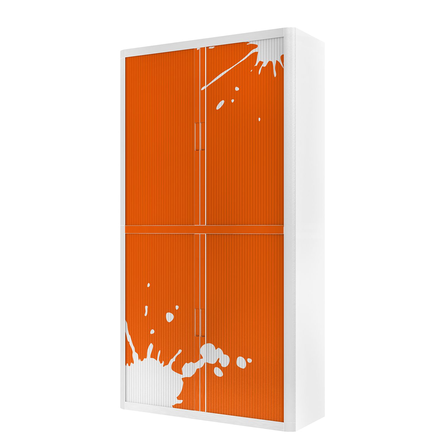 Aktenschrank easyOffice Stickers II - Orange - 204 cm, easy Office und Paperflow