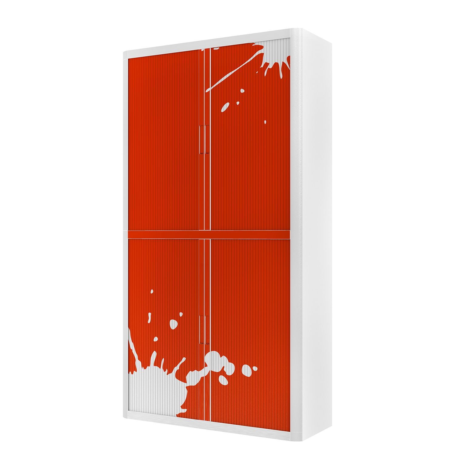 Aktenschrank easyOffice Stickers II - Rot - 204 cm, easy Office und Paperflow