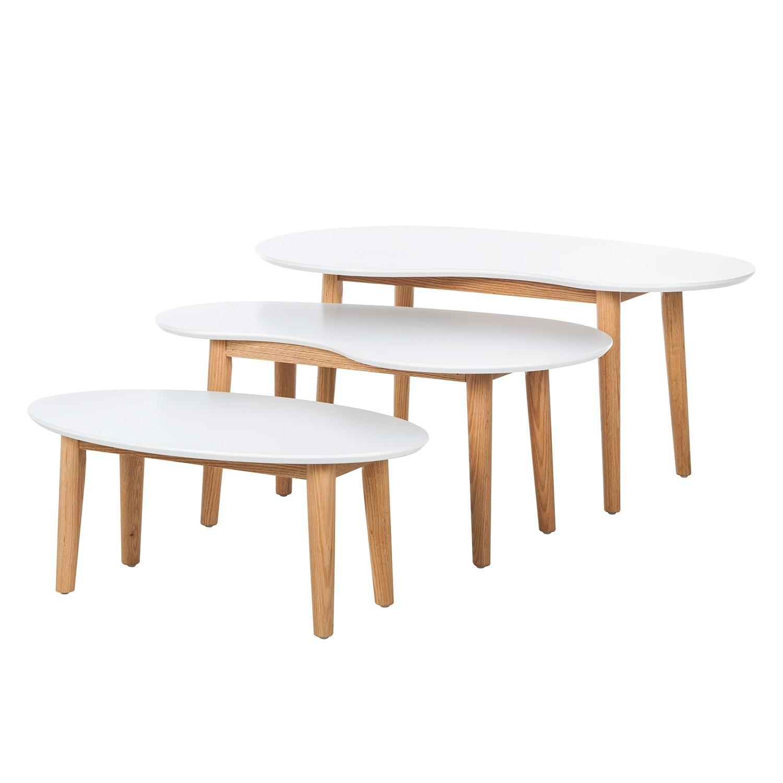 Lindholm Möbel sideboard lindholm v weiß dekor eiche massiv morteens möbel