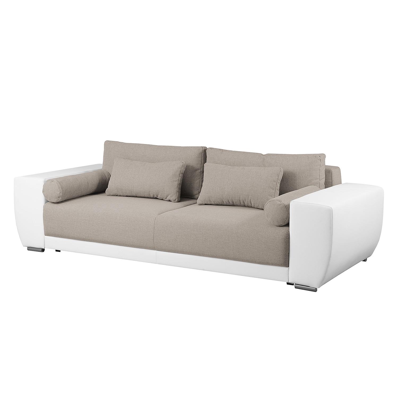 polstergarnitur gramat 3 2 1 kunstleder strukturstoff wei grau roomscape m bel. Black Bedroom Furniture Sets. Home Design Ideas