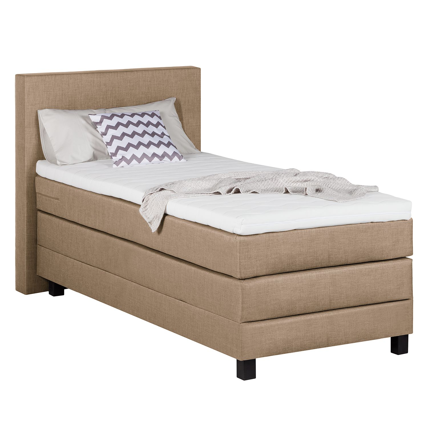 Boxspringbett Splendid Night II - 100 x 200cm - H3 ab 80 kg - Taupe, Grand Selection