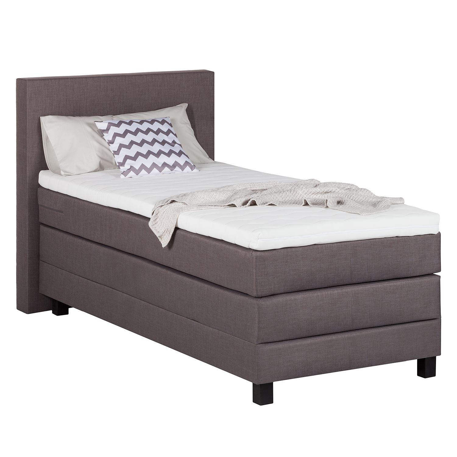 Boxspringbett Splendid Night II - 100 x 200cm - H3 ab 80 kg - Anthrazit, Grand Selection