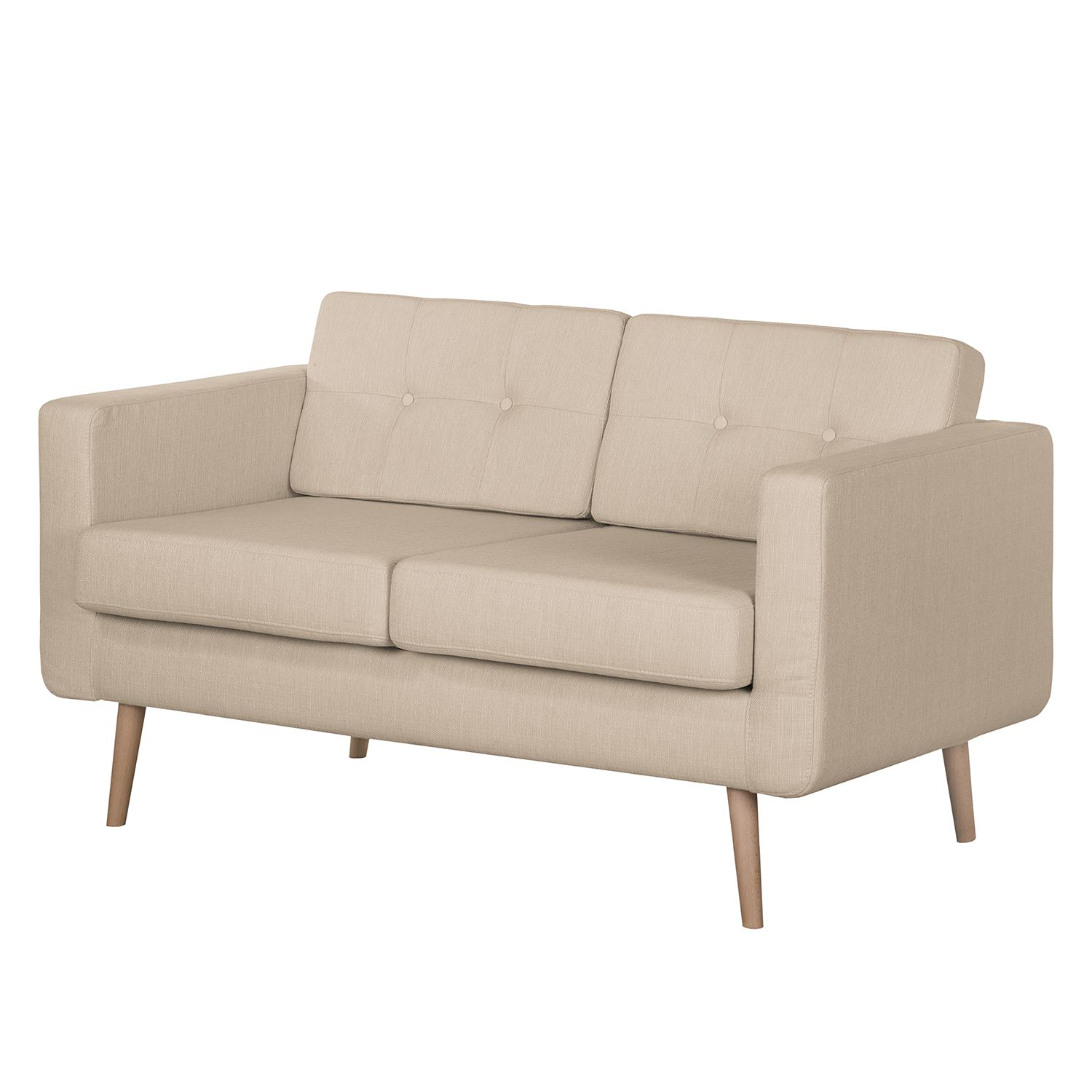 Sofa Aira II (2-Sitzer) - Webstoff - Cappuccino, kollected by Johanna
