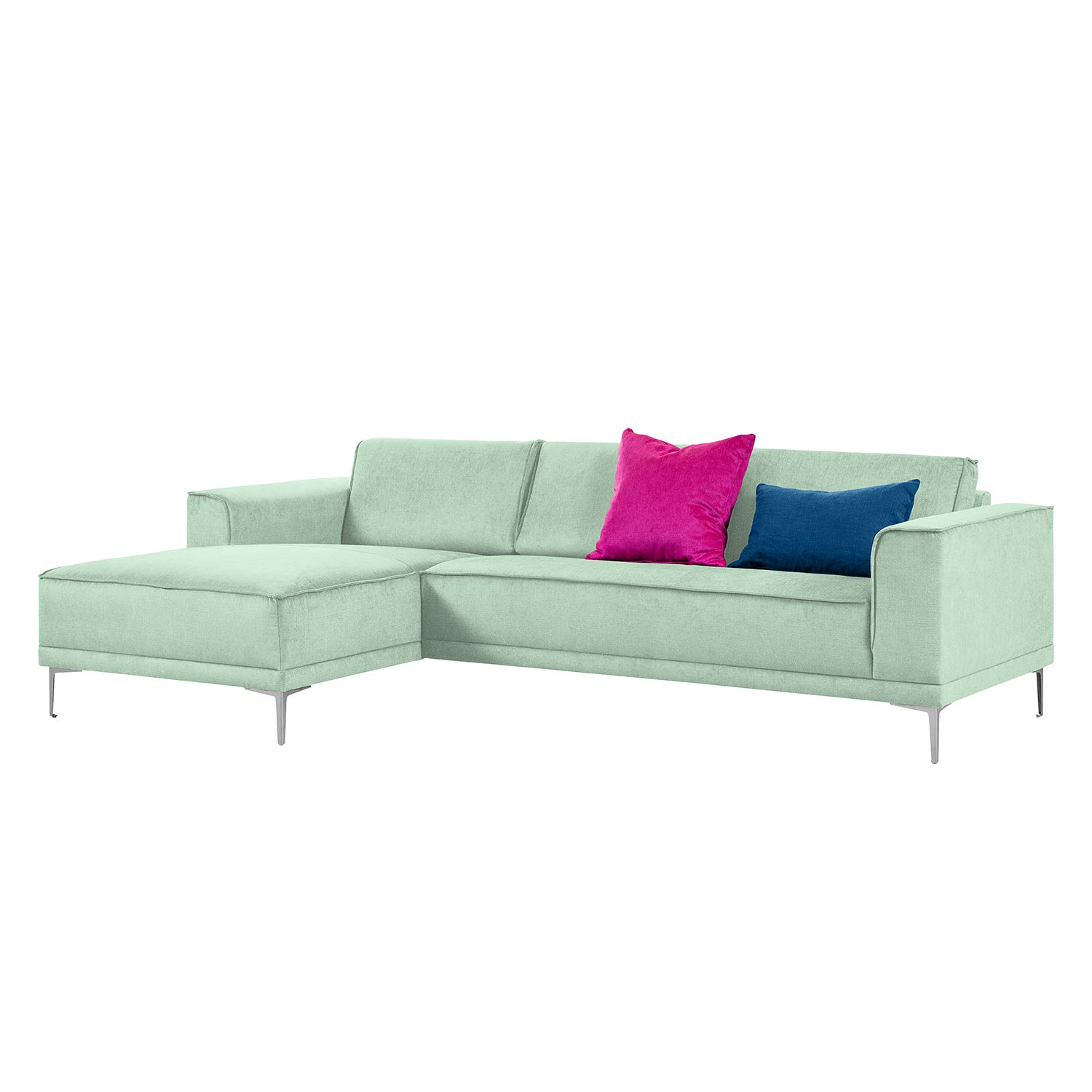 Ecksofa Grapefield - Webstoff - Longchair/Ottomane davorstehend links - Mint, Says Who