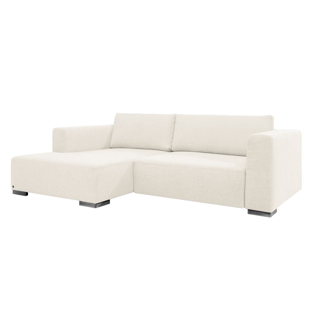 Ecksofa Heaven Colors Style S - Webstoff - Longchair/Ottomane davorstehend links - Ohne Schlaffunktion - Creme, Tom Tailor