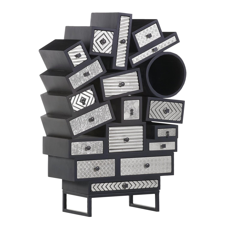 kommode schwarz silber free barock sessel schwarz silber stoff with kommode schwarz silber. Black Bedroom Furniture Sets. Home Design Ideas