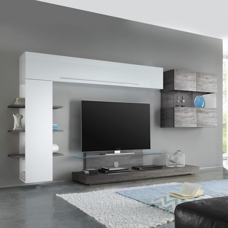 tv lowboard box lc hochglanz sand lc mobili m bel. Black Bedroom Furniture Sets. Home Design Ideas
