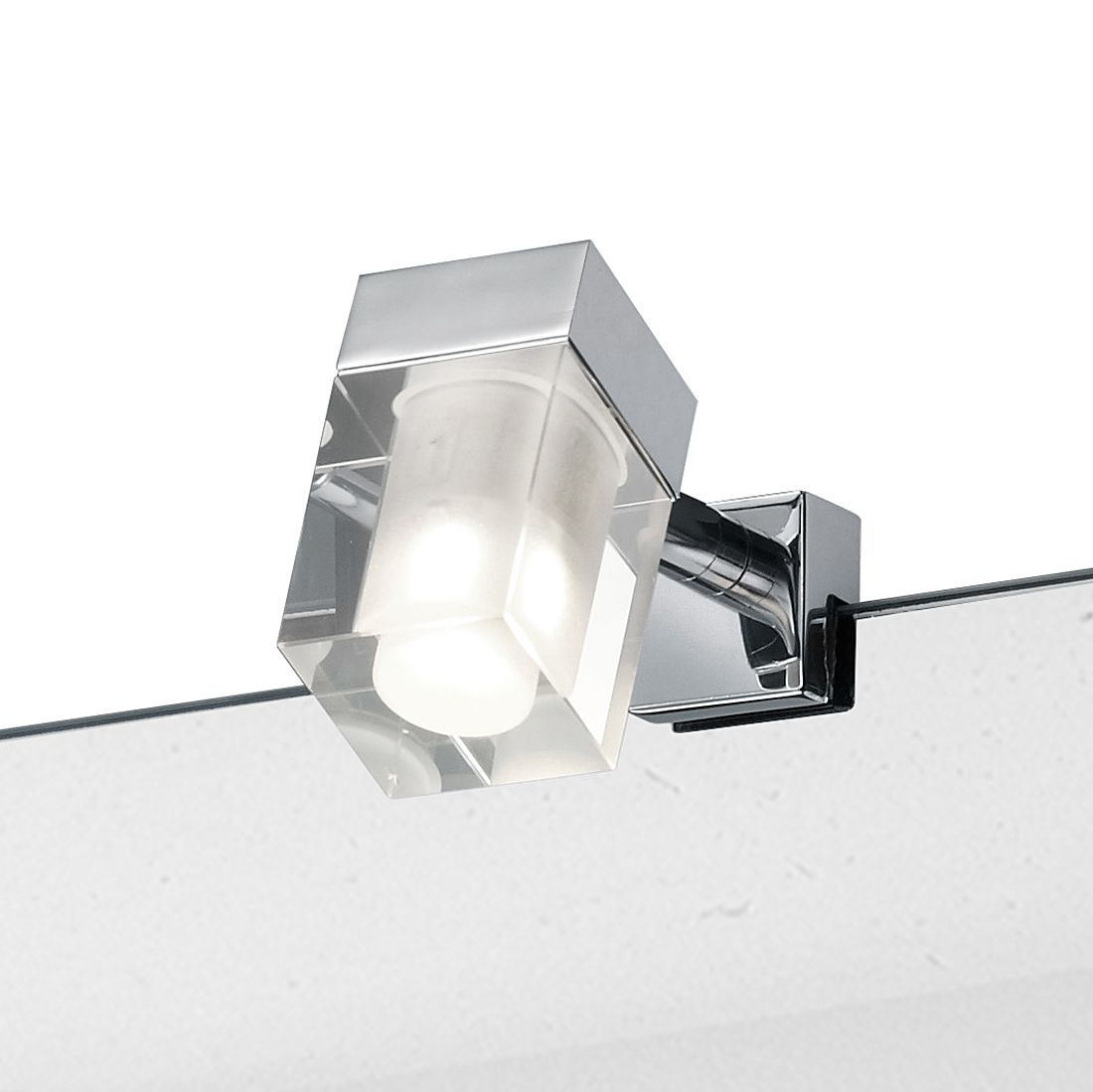 EEK A+, LED-Wandleuchte - Metall - Chrom - 1-flammig, Trio