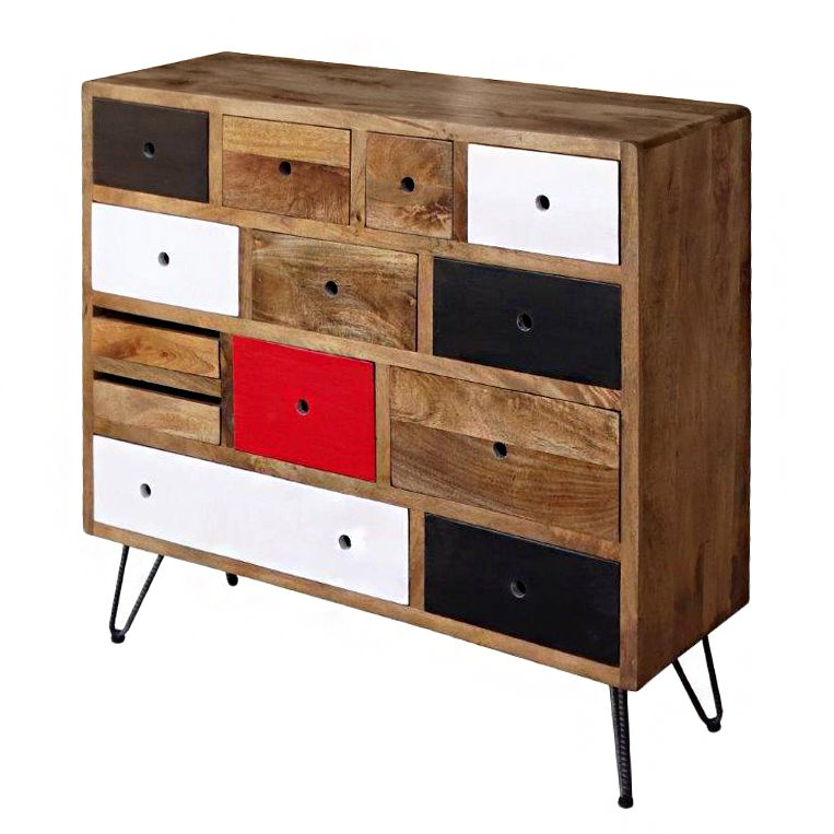 tv lowboard bambari mango massiv eisen ars manufacti. Black Bedroom Furniture Sets. Home Design Ideas