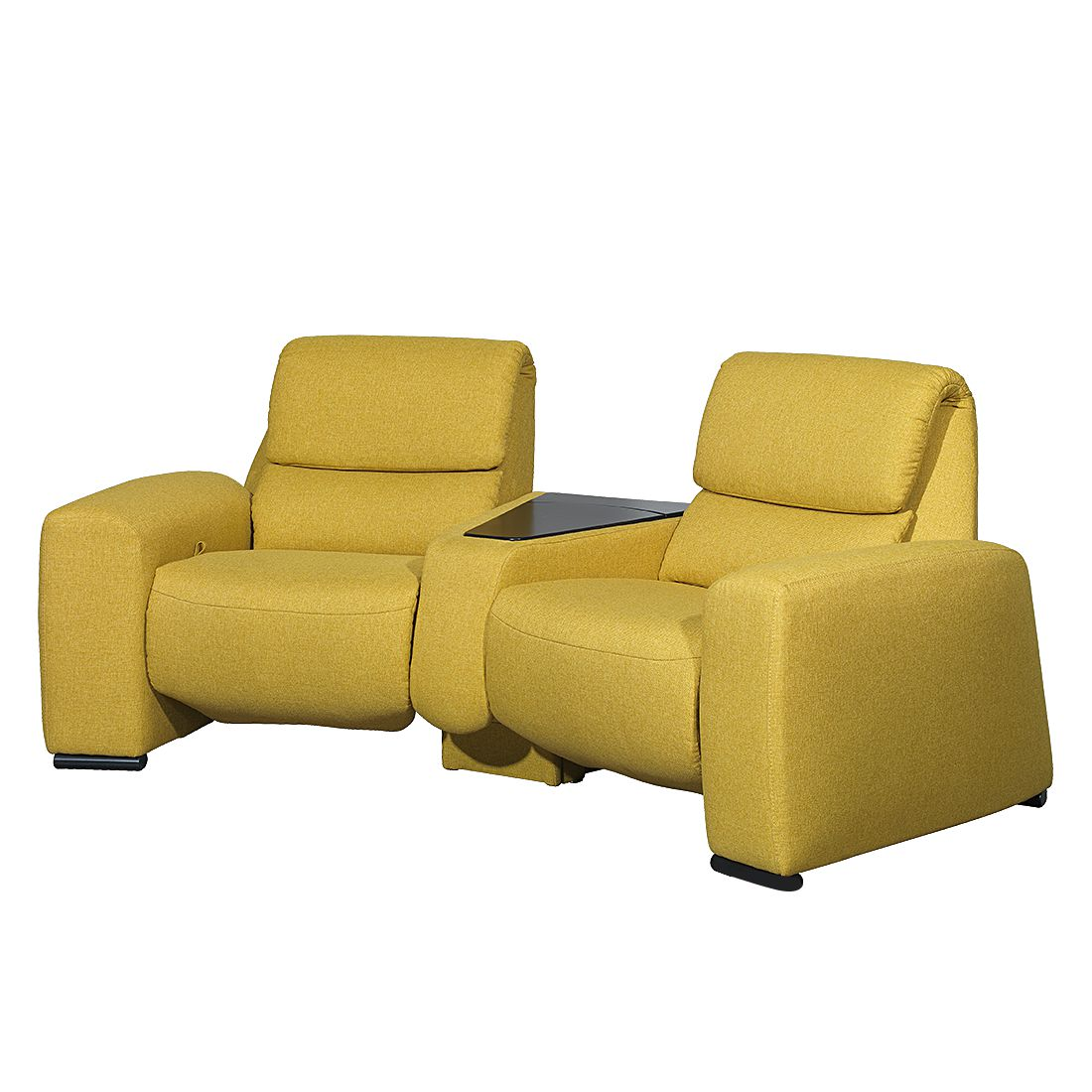 Relaxsofa Space (2-Sitzer) - Webstoff - Mit Relaxfunktion - Gelb, trendline by Ada