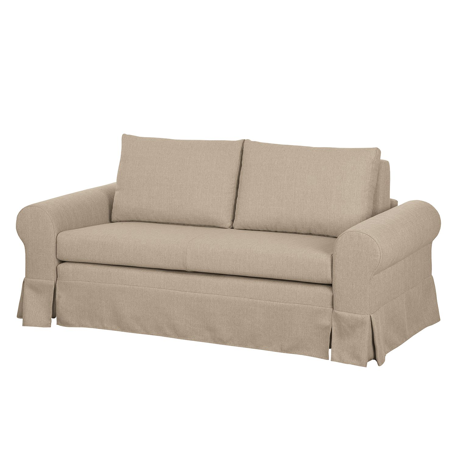Schlafsofa Latina XIII - Webstoff - Cappuccino - 165 cm, mooved