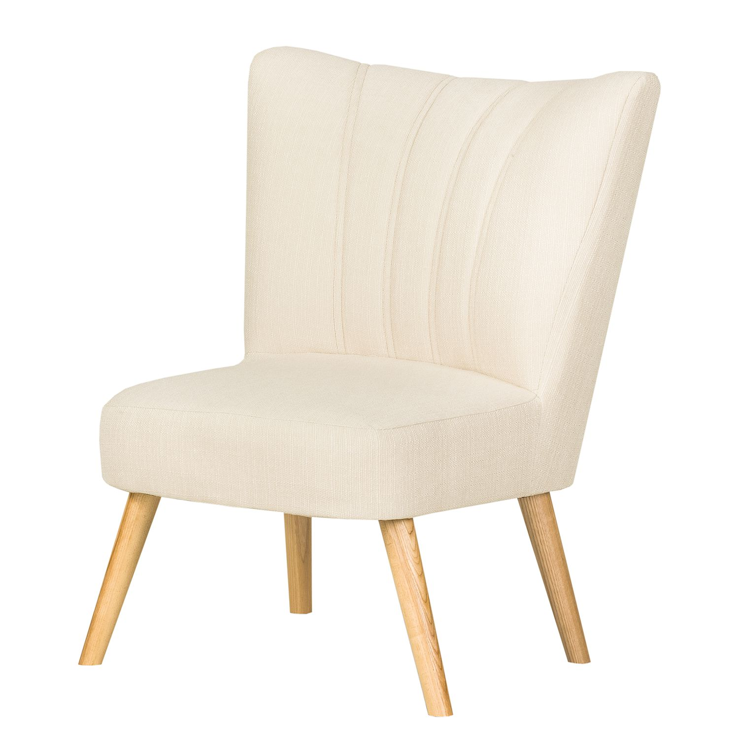 Sessel Oona II - Webstoff - Creme, kollected by Johanna