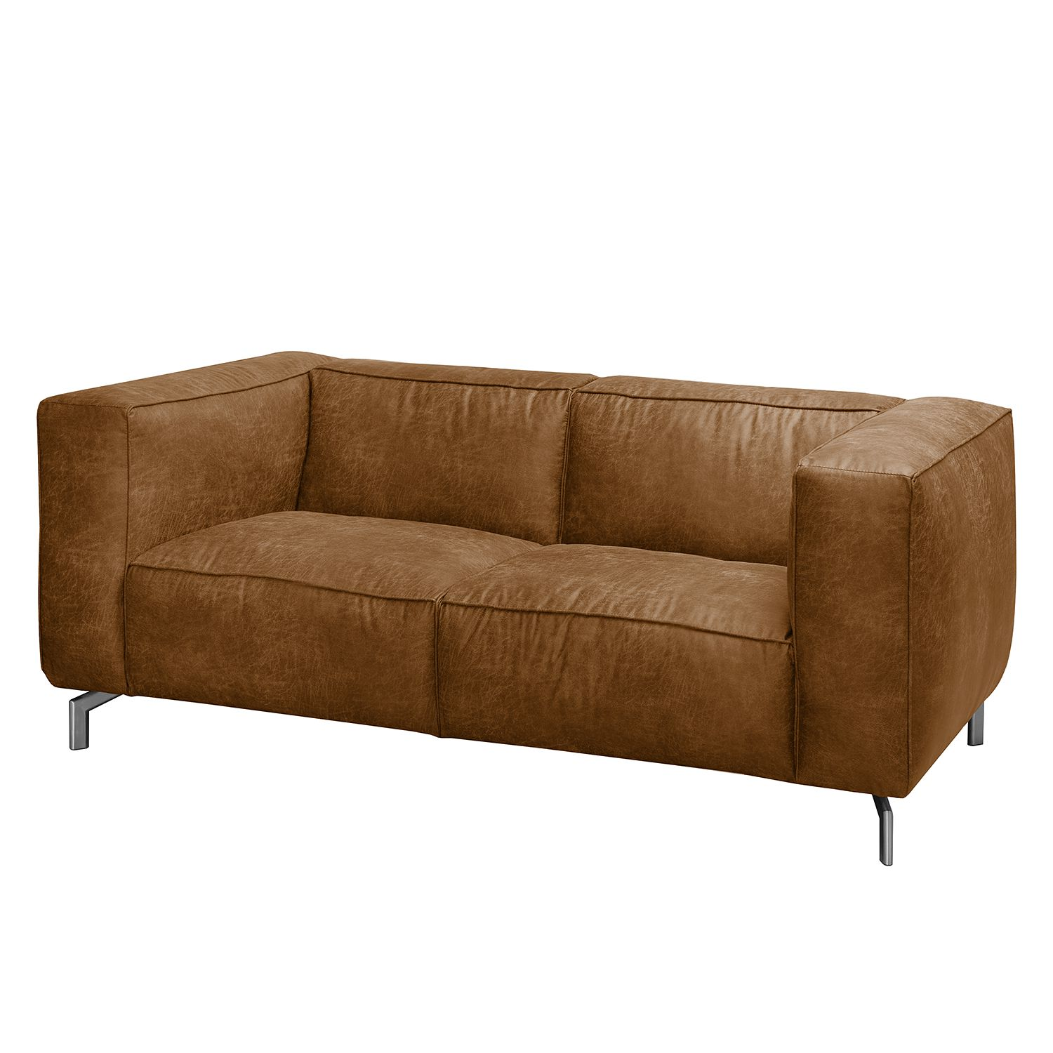Sofa Pentre (2-Sitzer) - Antiklederlook - Nougat, ars manufacti
