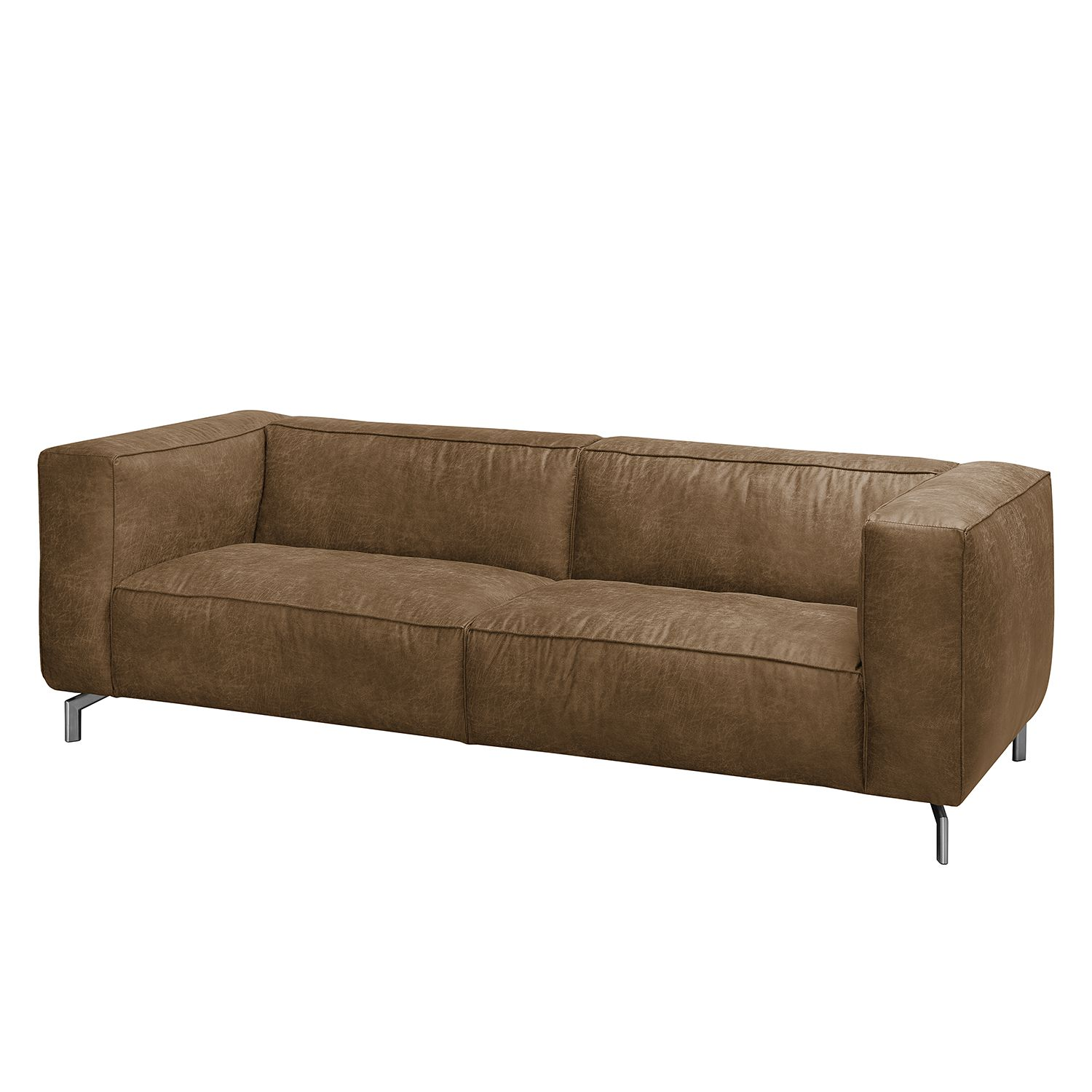 Sofa Pentre (3-Sitzer) - Antiklederlook - Camel, ars manufacti