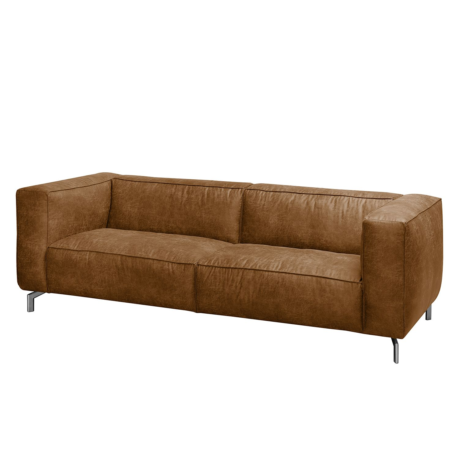 Sofa Pentre (3-Sitzer) - Antiklederlook - Nougat, ars manufacti