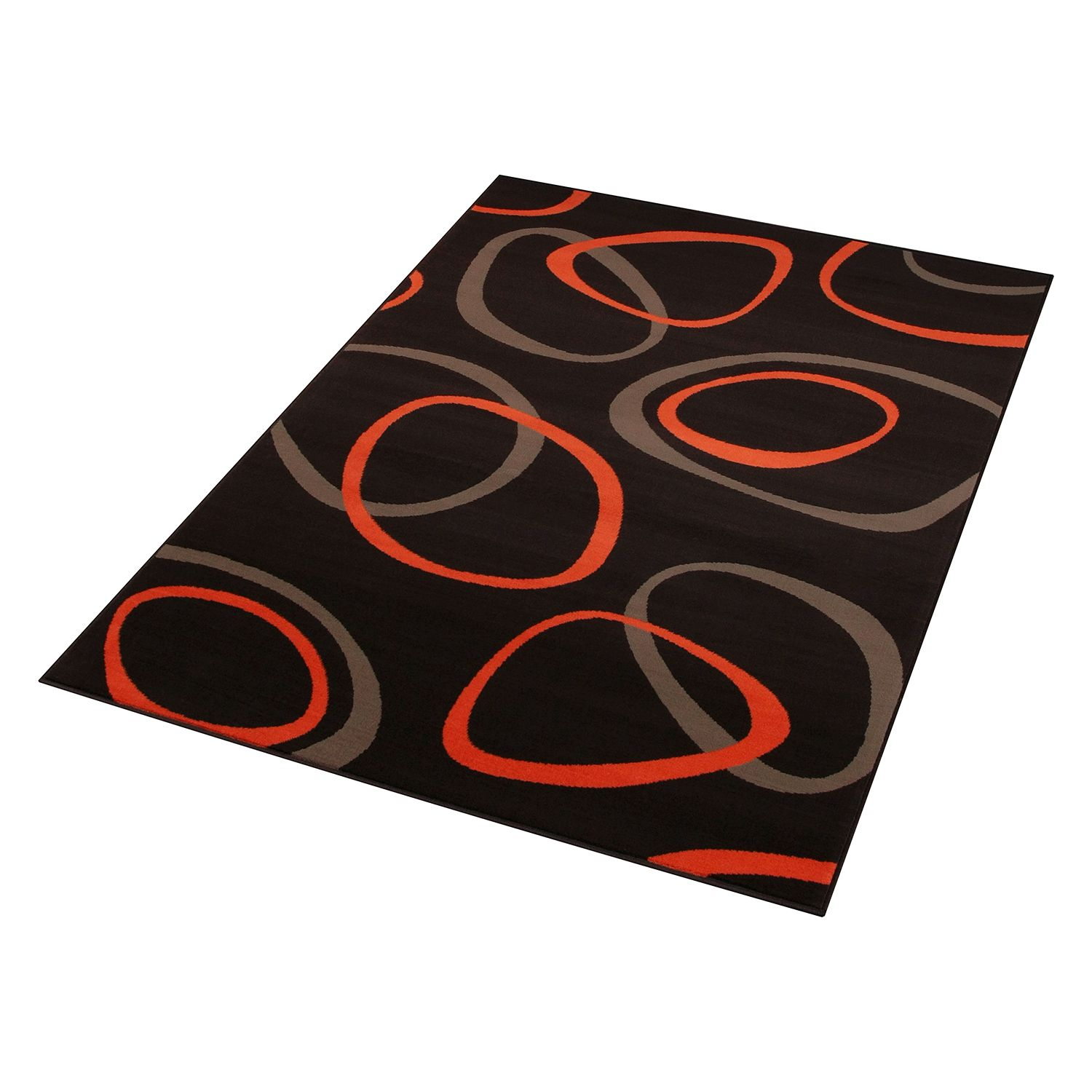 Teppich Loop - Braun / Orange - 80 x 150 cm, Hanse Home Collection