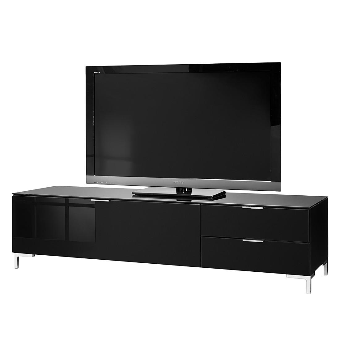 Tv lowboard schwarz glas  TV-Lowboard Cleo II - Weiß/Glas Sand, Cs Schmal | Möbel preiswert ...