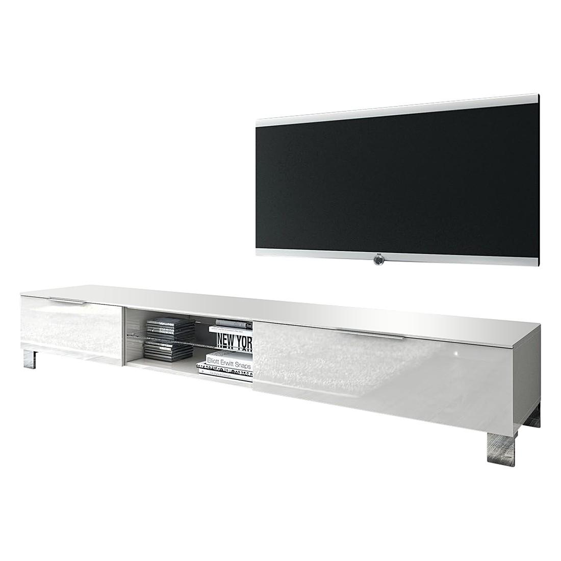 tv lowboard katakana iii hochglanz wei grau. Black Bedroom Furniture Sets. Home Design Ideas