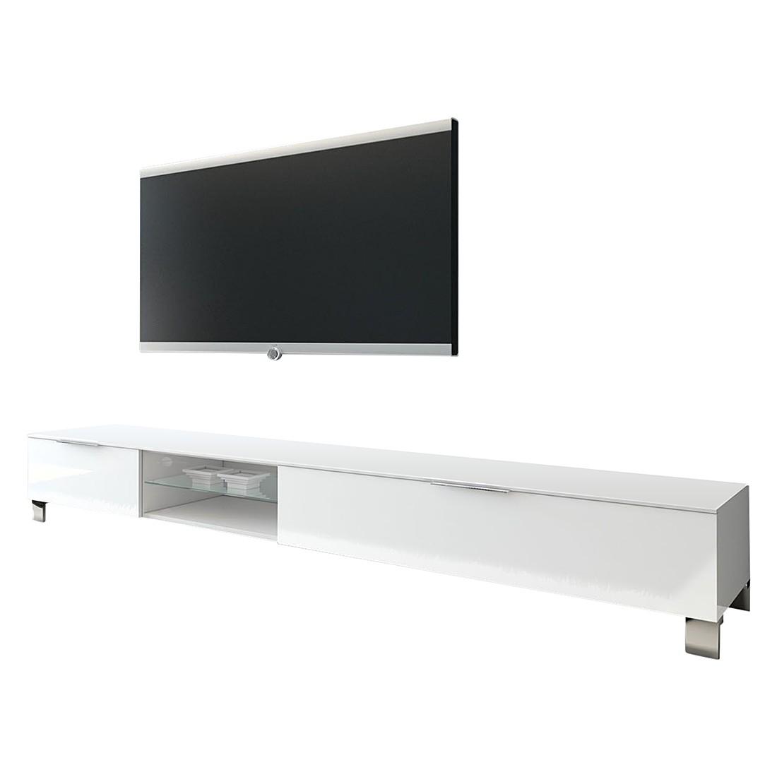 wohnwand line lc iii 4 teilig hochglanz wei eiche grau dekor lc mobili m bel preiswert. Black Bedroom Furniture Sets. Home Design Ideas
