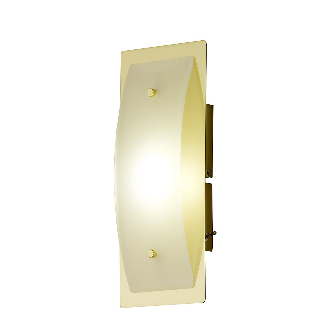 EEK A+, LED-Wandleuchte Liana Metall Gold - 1-flammig, Honsel