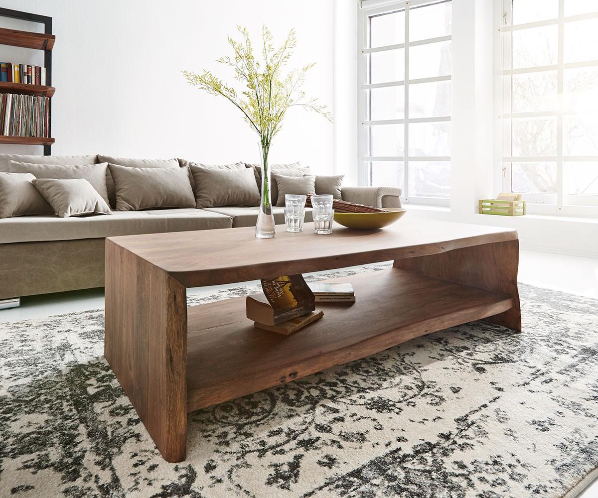 Kasper Wohndesign Sideboard Groß Akazie Massiv Holz Baumkante Live
