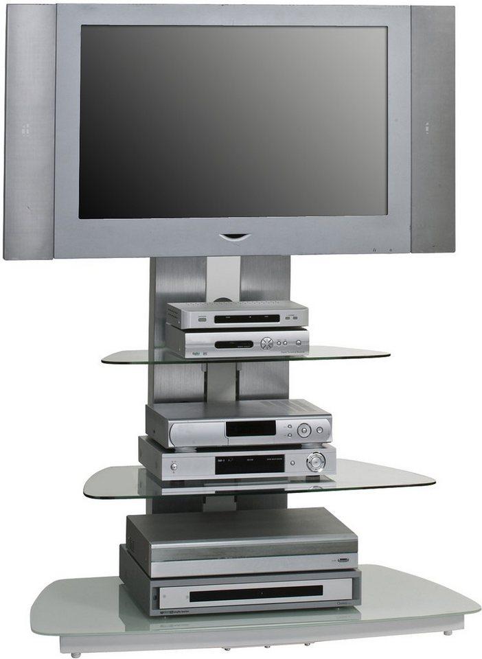 Maja Möbel Tv Rack Breite 140 Cm Grau Metall Platingrauweißglas