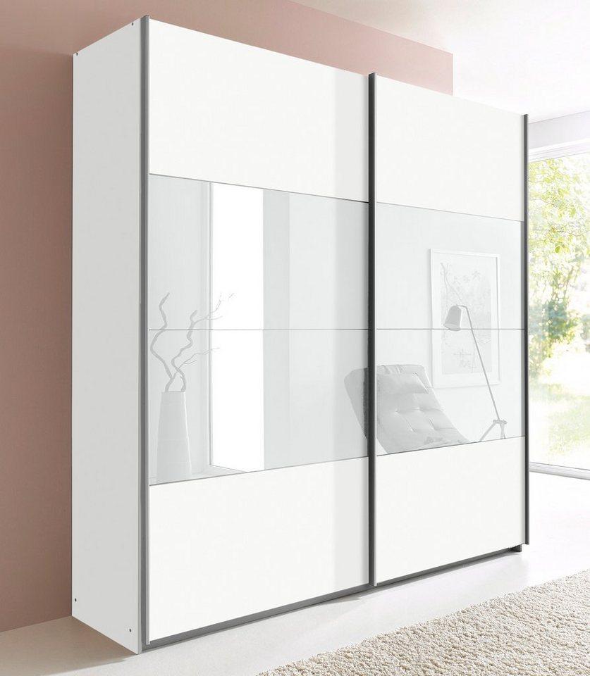 rauch pack s schwebet renschrank quadra wei breite 226 cm mit aufbauservice mit. Black Bedroom Furniture Sets. Home Design Ideas