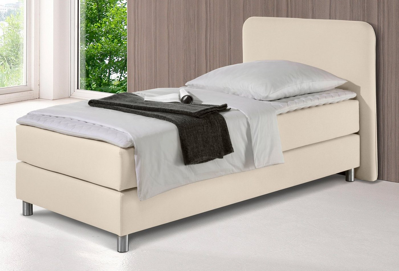 INOSIGN Boxspringbett »Flair«, natur, 100/200 cm, beige