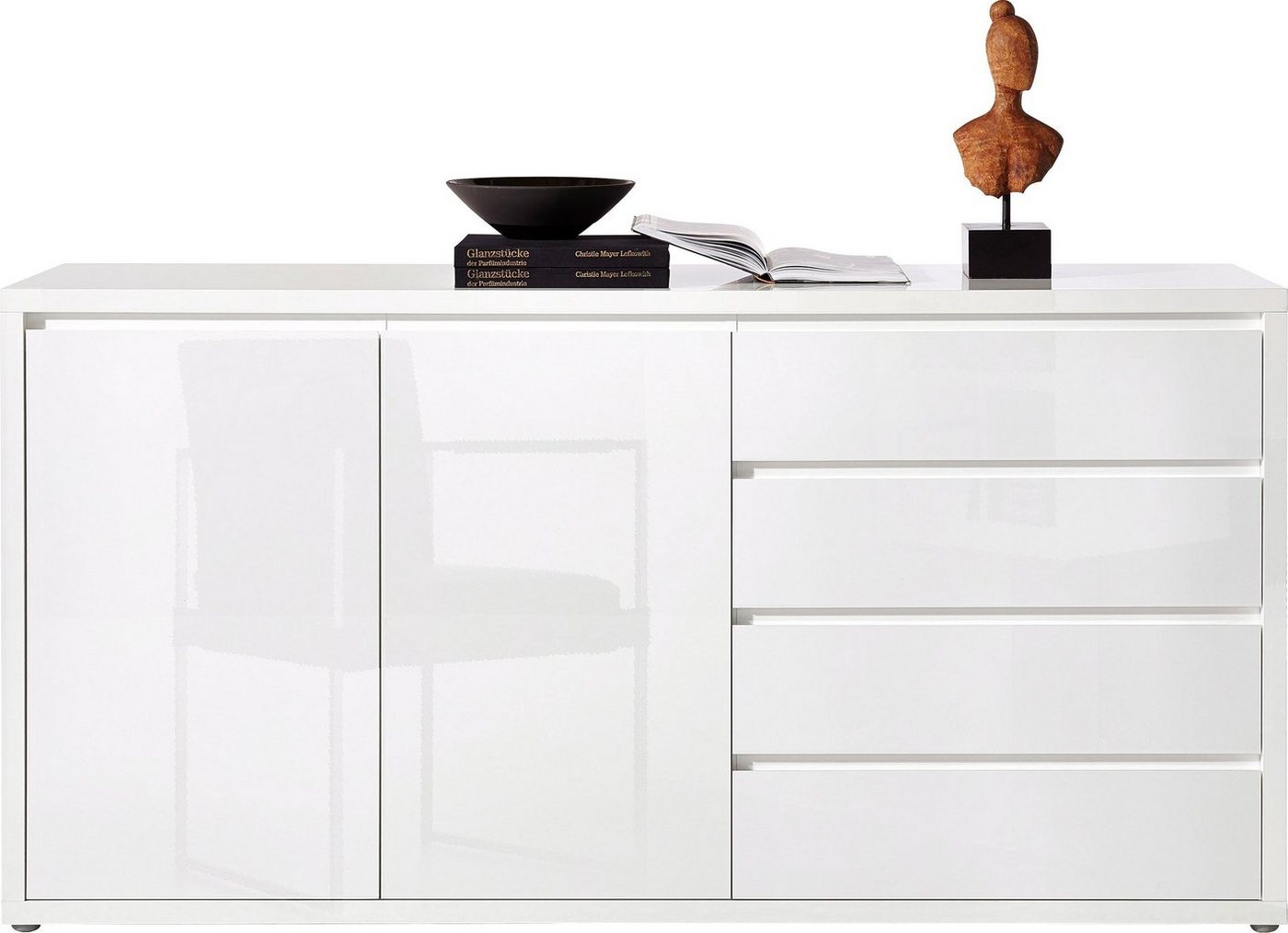Places of Style Sideboard »Moro«, Breite 188 cm, weiß, weiß Lack