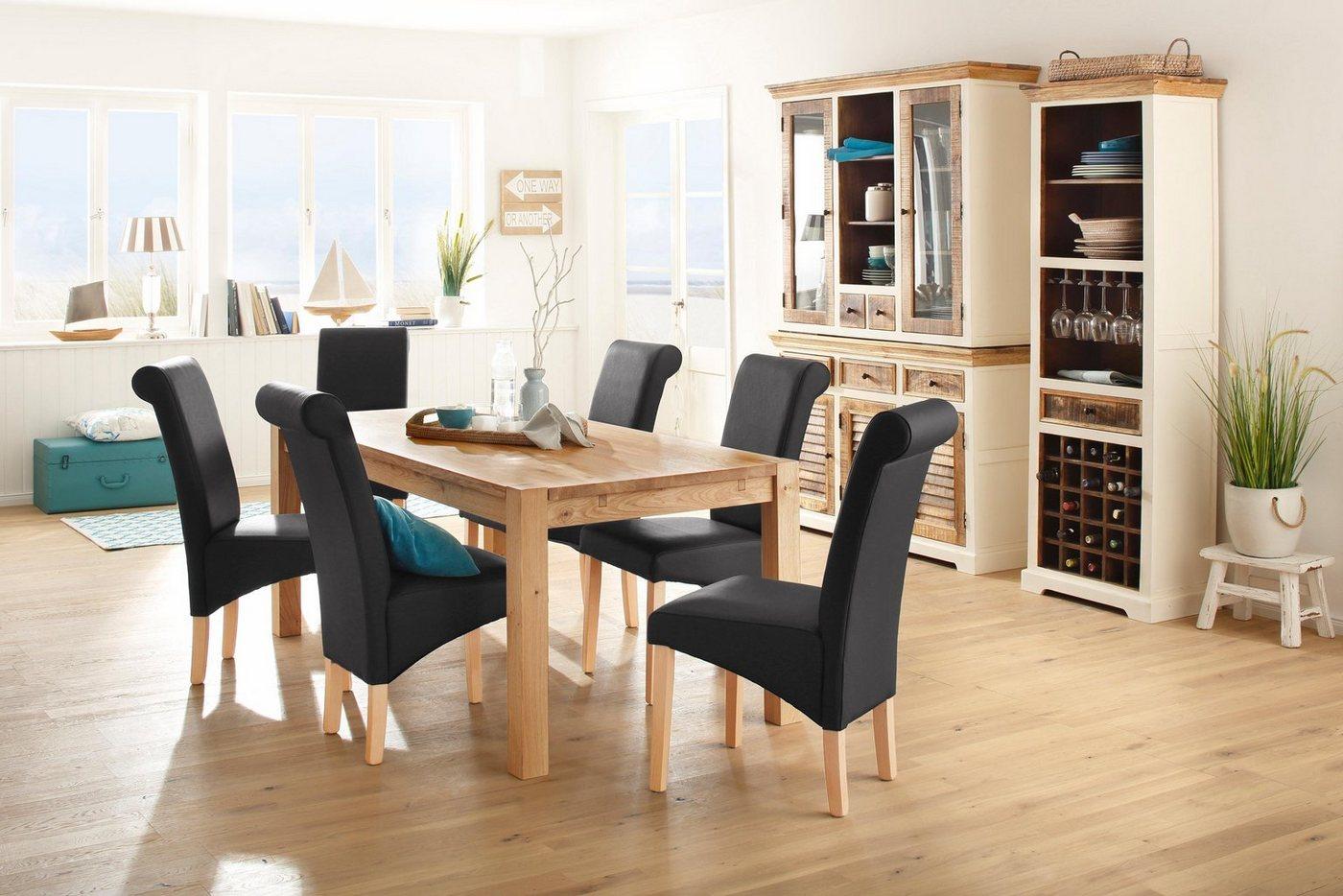 Elegant Esstisch 120x90 Referenz Von Home Affaire »model 3« Aus Massiver Eiche,
