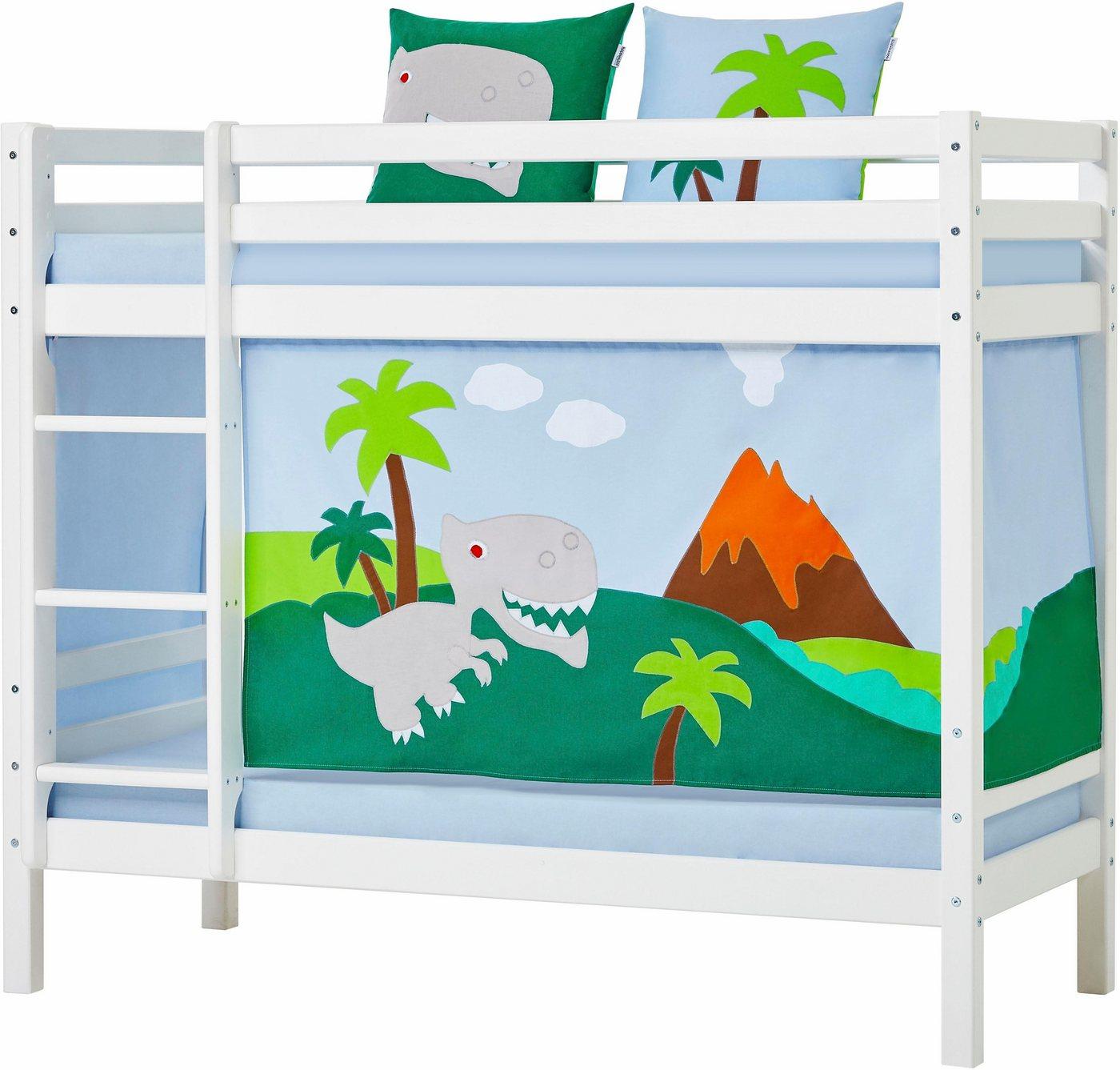 PAIDI FLEXIMO Vorhang-Set, 155 cm, Motiv-Vorhänge brombeere/weiß ...