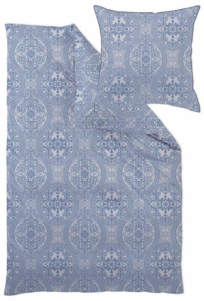 curt bauer bettw sche giulia mit feinen ornamenten gr n 1x 135x200 cm mako brokat damast. Black Bedroom Furniture Sets. Home Design Ideas