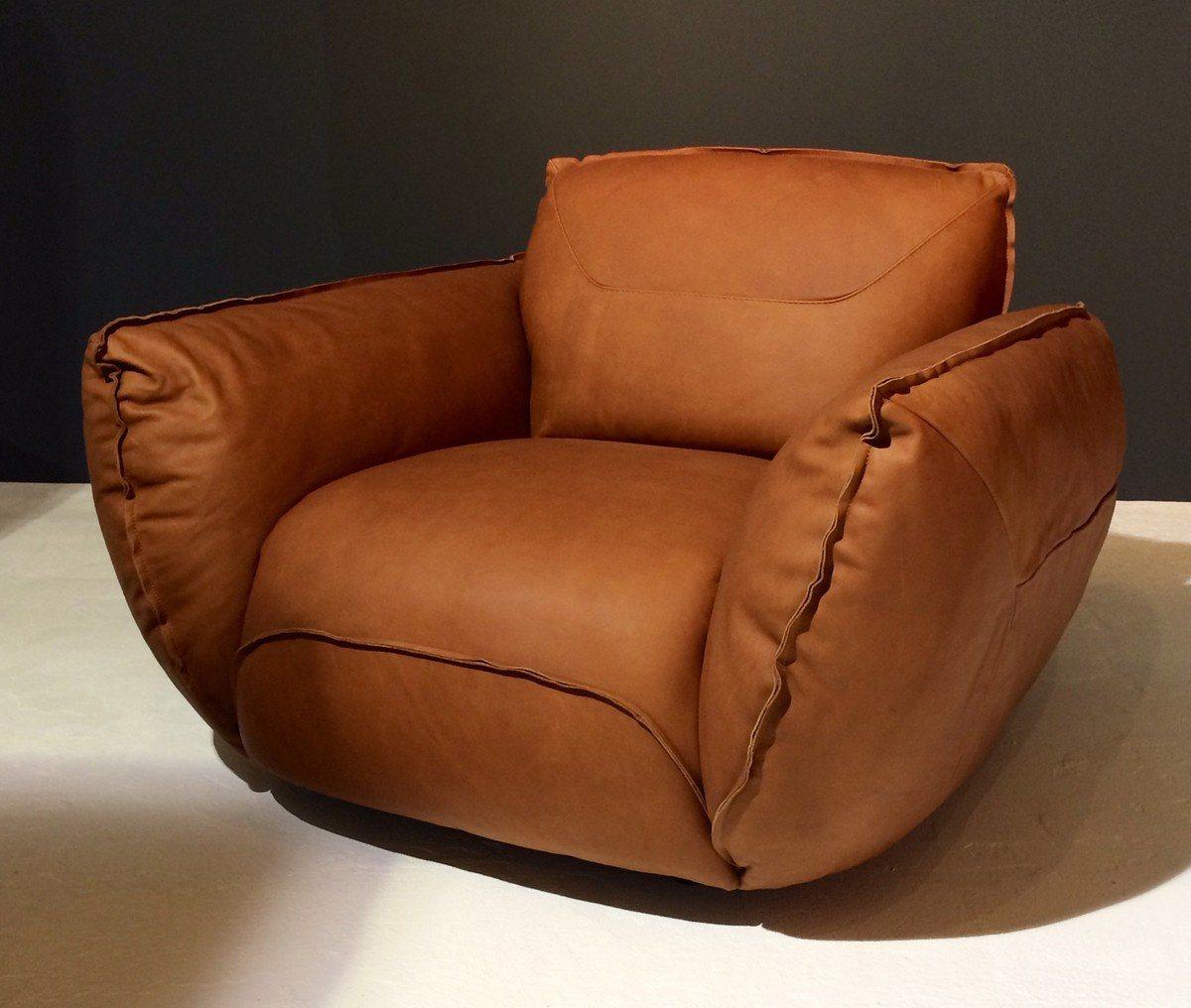 Kasper-Wohndesign Sofa Garnitur Leder Schwarz Mit Oder