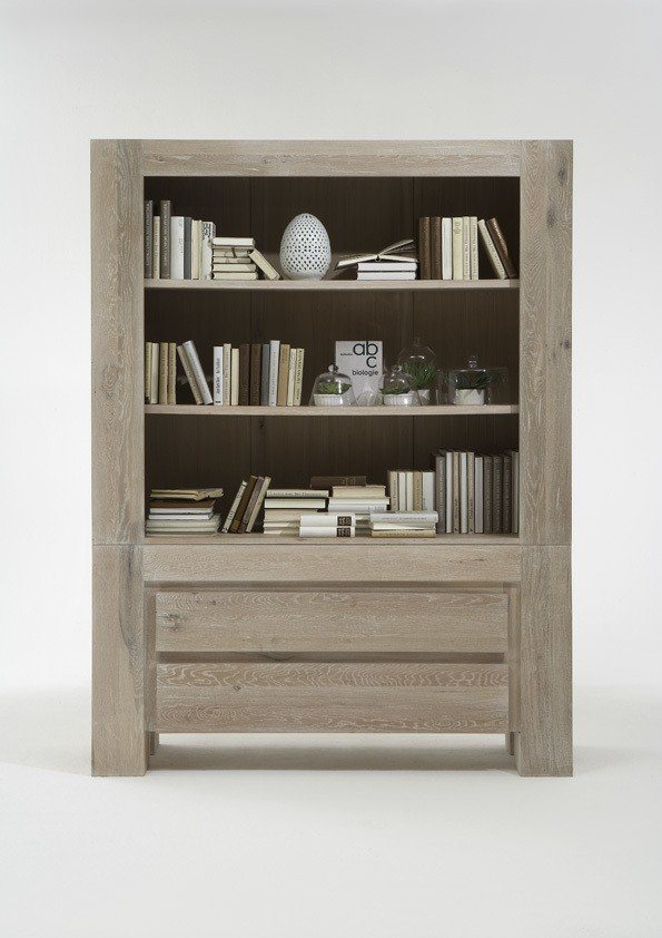 Kasper-Wohndesign Highboard Massivholz white wash »NOTOS«, braun, hellbraun