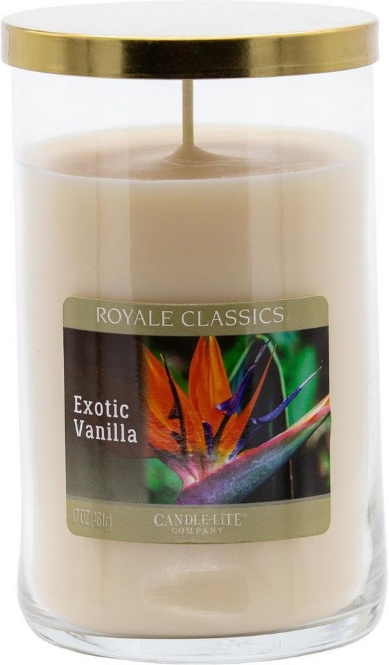 Candle-lite™ Duftkerze, »Royale Classic - Exotic Vanilla«, weiß, 481 g, weiß