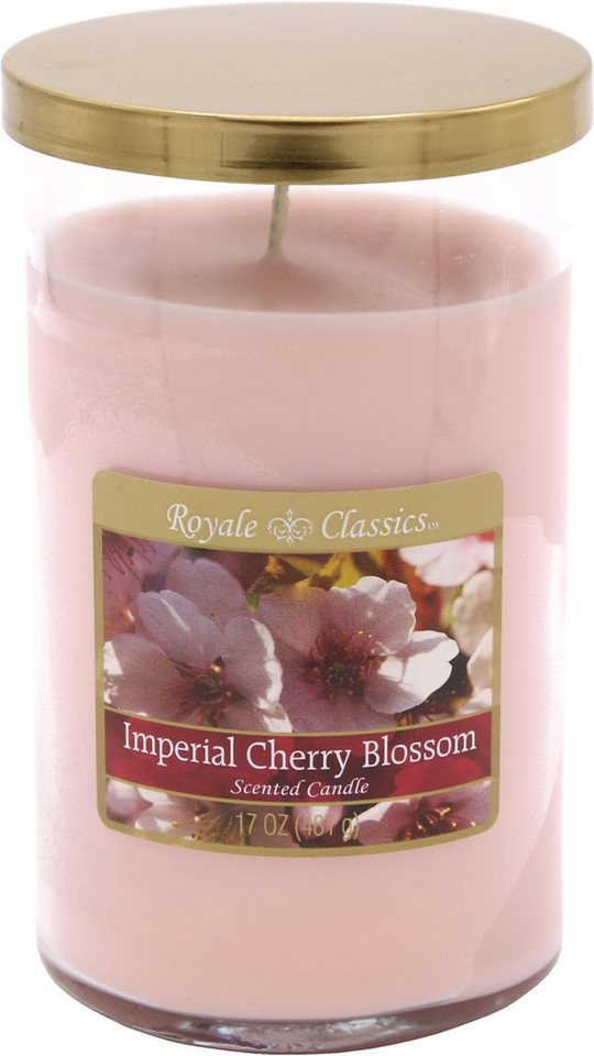 Candle-lite™ Duftkerze, »Royale Classic - Imperial Cherry Blossom«, rosa, 481 g, rosa