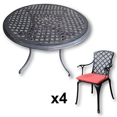 Lazy Susan Alice 120 Cm Runder Gartentisch Mit 4 Stuhlen